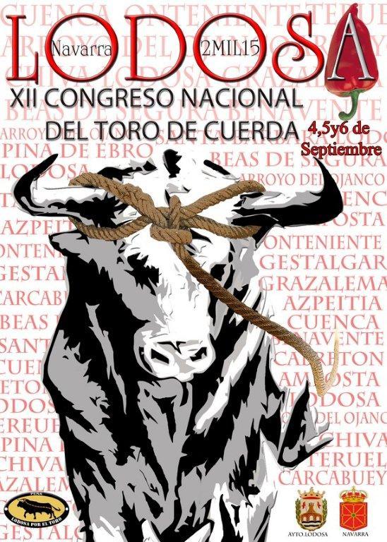 Cartel XII congreso del toro de cuerda Lodosa